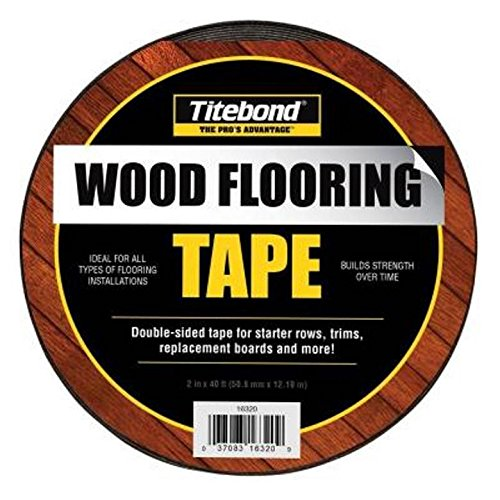 "Titebond 16320 2"" Wide Double Sided Wood Flooring Tape Roll, 40"
