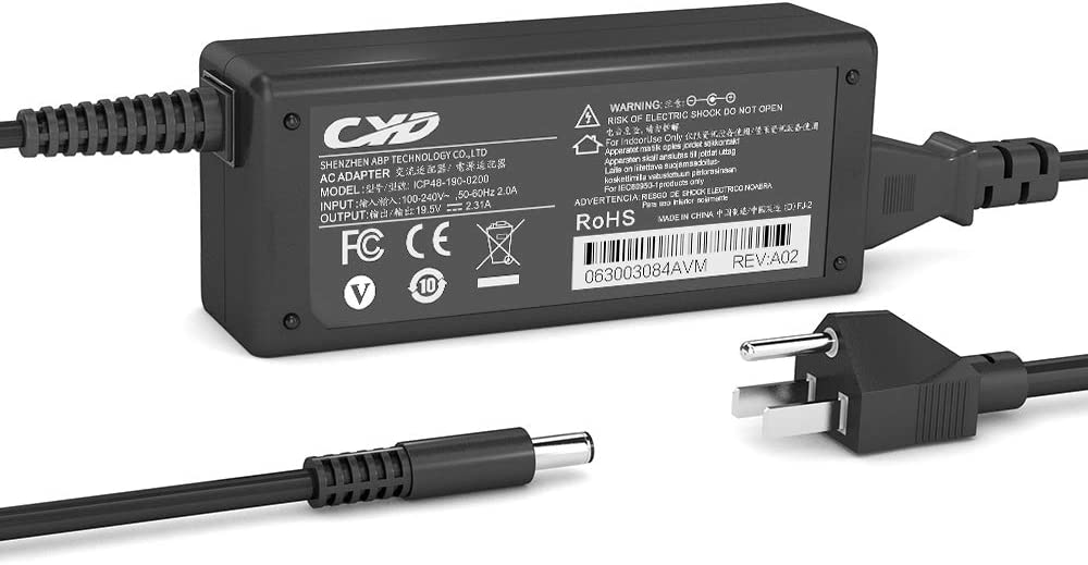 QYD 45W Laptop Charger Replacement for AC Adapter Dell Inspiron 15 3551 3552 3558 3559 5551 5552 5555 5558 5565 5567 5568 5578 Inspiron 17 5755 5758 5759 XPS 11 12 13 Notebook Power Supply Cord