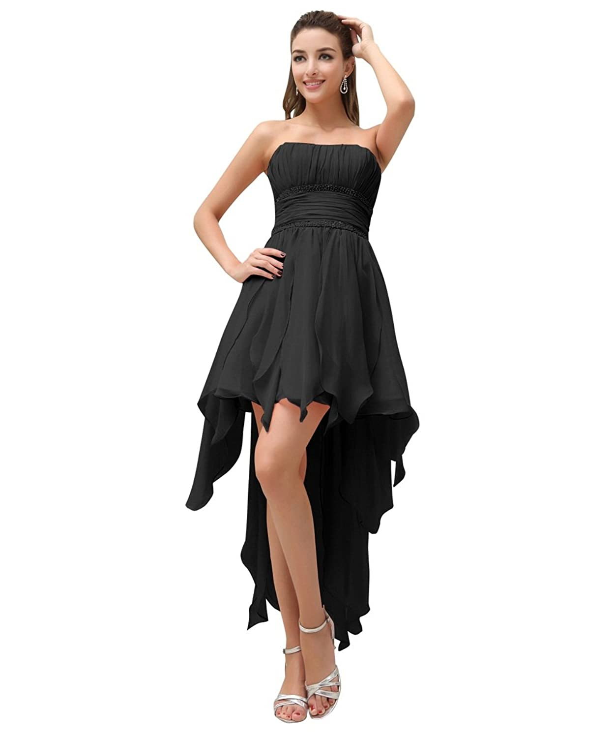 Preferhouse Women's High Low Cocktail Dresses Ruffles Evening Party for Juniors