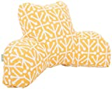 Majestic Home Goods Aruba Reading Pillow, Citrus
