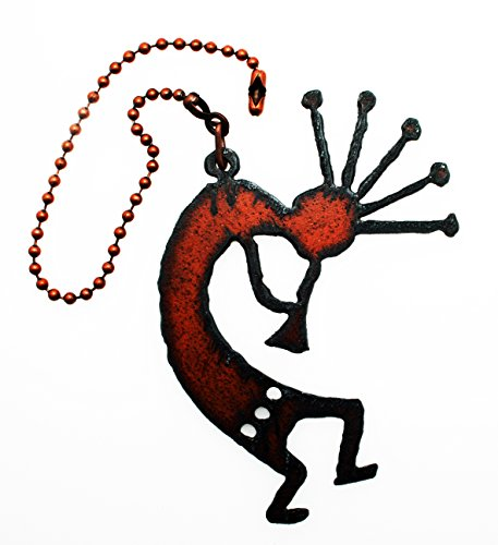 Southwestern Home Decor Rustic Metal Kokopelli Ceiling Fan Pull Light Pull