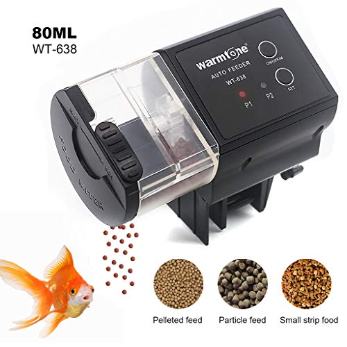 Fish Eheim Feeder Automatic - boxtech Automatic Fish Feeder, Auto Fish Food Timer Feeder-Aquarium Tank Timer Feeder for Fish Tank, Programmable Vocation Fish Food Dispenser