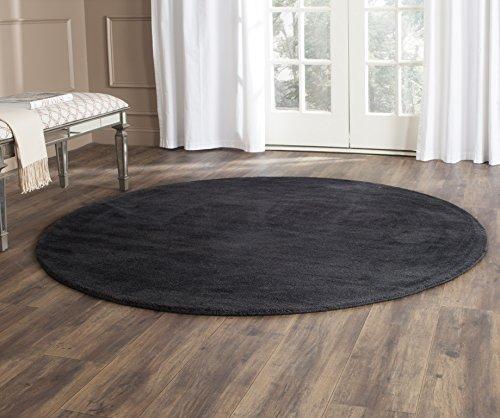 Safavieh Himalaya Collection HIM610C Handmade Black Premium Wool Round Area Rug (8' Diameter)
