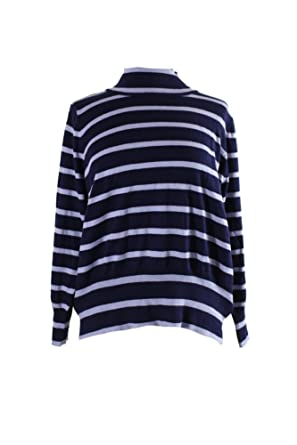 4f88d6ee799 Image Unavailable. Image not available for. Color  Melissa McCarthy Seven7  Trendy Striped Mock Turtleneck Sweater ...