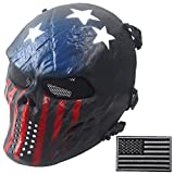 Wwman Full Face Skull Airsoft Mask and Military Patch Tactical Paintball CS Protective Gear equipment