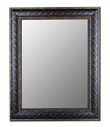 Hitchcock Butterfield Company Cameo Collection Mirror in Bordeaux Walnut Gold Scroll Size: 41