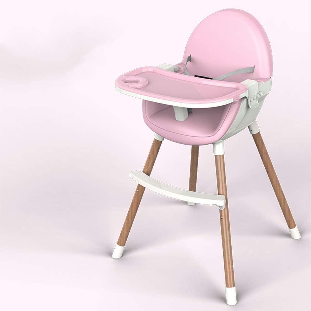 Alimentación del bebé Trona |Diseño de Fasion |Plegable portátil bebé Silla de Comer tabla de cena, de múltiples funciones del asiento (Color : Pink)