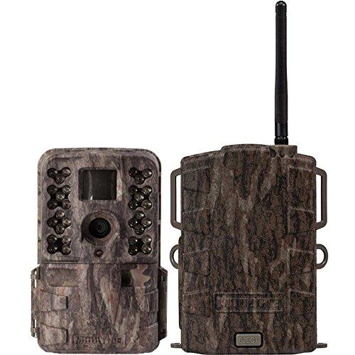 Moultrie M40i 16MP 80' Video No Glow IR Game Trail Camera + Mobile Field Modem