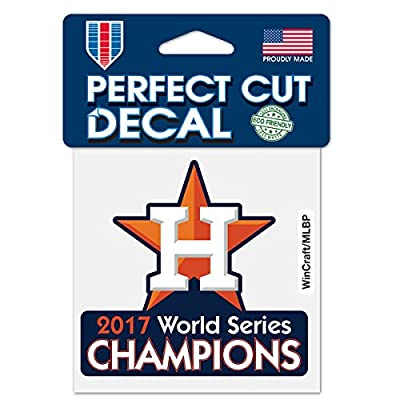 Houston Astros WinCraft 2017 World Series Champions 4'' x 4'' Perfect Cut Decal