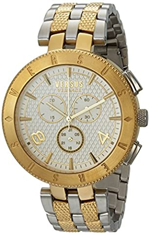 Versus by Versace Men's 'LOGO GENT CHRONO' Quartz Stainless Steel Casual Watch, Color:Two Tone (Model: (Gold Versus Watches For Men)
