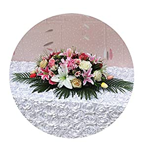Sevem-D New Artificial Rose Lily Meeting Room Home Decoration Flowers Hotel Event Party Wedding Table Flowers 52