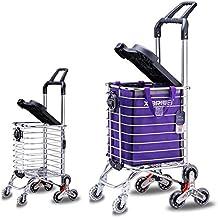 Stair Climbing Multipurpose Folding Supermarket 8 Wheel Shopping Cart with Shopping Bag and Seat