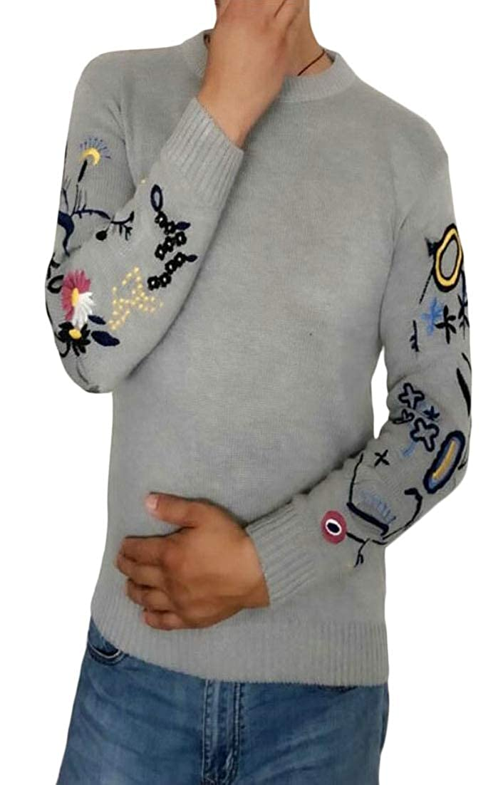 Generic Mens Fitted Soft Slim Fit Pullover Lightweight Crew Neck Sweater