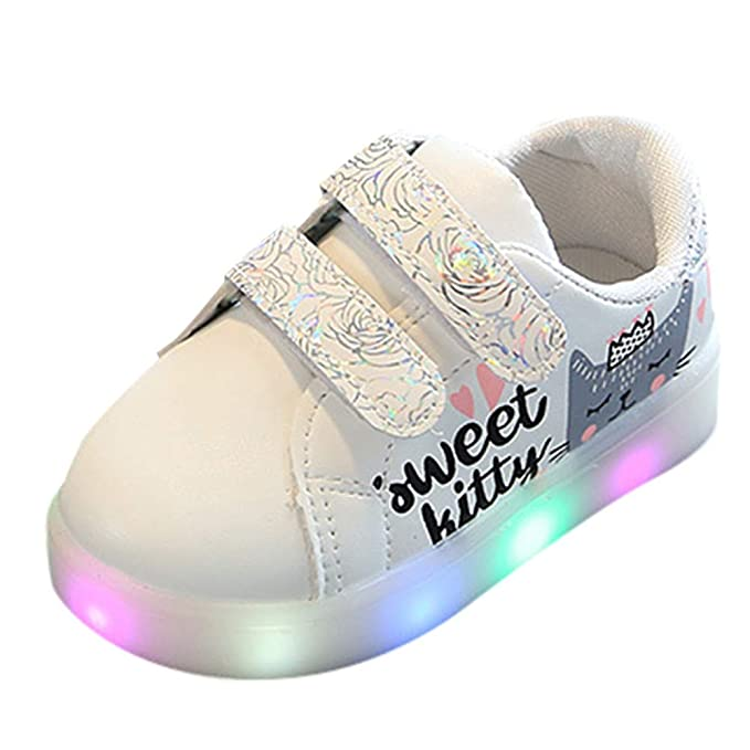 ❤ Zapatillas de Deporte Flash para niños, Niños Kid Girls Sport Cat Carta Corazón Imprimir Led Zapatos Luminosos Luminosos Absolute: Amazon.es: Ropa y ...