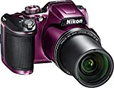 Nikon COOLPIX B500 16MP Digital Camera with 3 Inch TFT LCD Screen Nikkor Lens With 40x optical zoom wifi, Plum (Certified Refurbished)