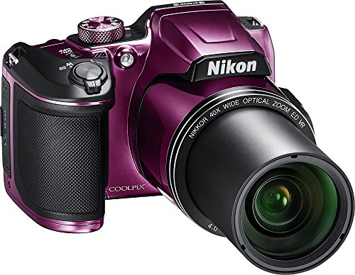 Nikon COOLPIX B500 16MP Digital Camera with 3 Inch TFT LCD Screen Nikkor Lens With 40x optical zoom wifi, Plum (Certified Refurbished) by Nikonn