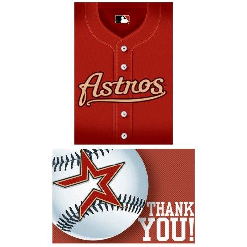 Costumes Houston (Houston Astros Baseball - Invite & Thank-You Combo Party Accessory)