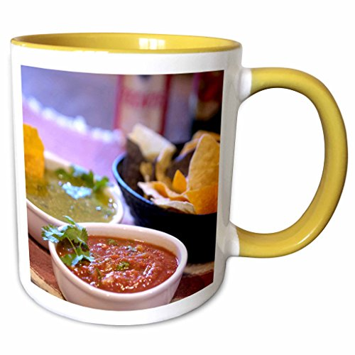 3dRose Danita Delimont - Cuisines - Tomatillo, Mexican cuisine, Destin, FL - US10 FVI0004 - Franklin Viola - 11oz Two-Tone Yellow Mug - Fl Outlet Destin