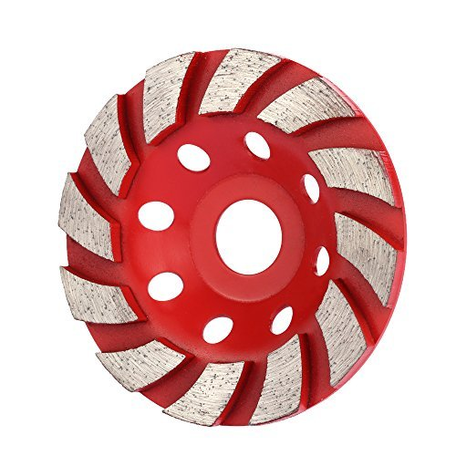 KKmoon 100mm 4 Diamond Segment Grinding Wheel Disc Bowl Shape Grinder Cup Concrete Granite Masonry Stone Ceramics Terrazzo Marble for Building Industry S, Repair & Hardware