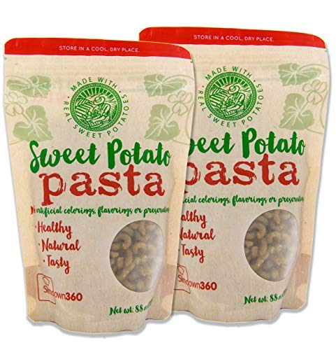 Sweet Potato Pasta - Macaroni Elbows - Paleo - Gluten Free - Vegan - 2 pack (2 x 8.8 oz) ()