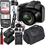Panasonic Lumix DC-FZ80 Digital Camera with Essential Accessory Bundle - Includes: SanDisk Ultra 32GB SDHC Memory Card, Spare Battery, Home/Travel Dock Charger, Digital Slave Flash & Much More