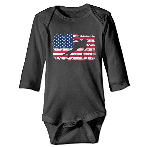 Guw Rompers American Flag Speed Skating Baby Long Sleeve Graphic Bodysuits 100% Cotton Jumpsuits - Speed Usa Suit