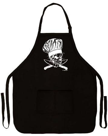 Amazon.com: Chef diseño de calavera y huesos cruzados ...
