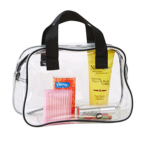 Clear Purse Stadium Approved, Clear Makeup Bag With Handle ()