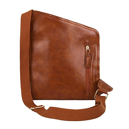 Messenger Small Packs black Men Leather Pu Chest Domybest Brown Vintage Light Shoulder Waist Bag Handbags xRU0qFRw