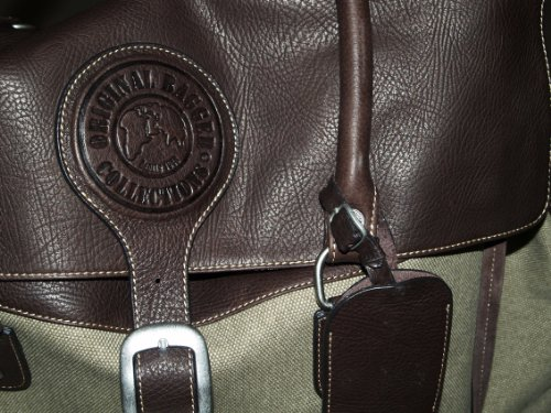 Boutique de France Reisetasche aus Leder und Canvas