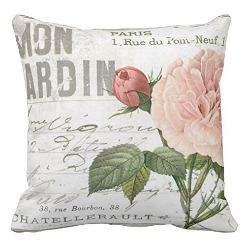 Best pillow covers Sofa chair cushion Pink rose and elegant 18x18(inches) UpArtStore (Chair Cushions Pottery Barn)