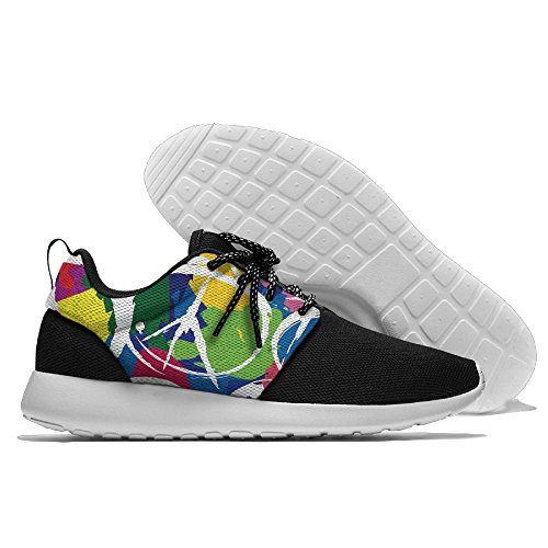 Men Women Gym Shoes Athletic Sneakers Graffiti Peace Sign Mesh Training Shoes Running - Atlanta Shopping Near