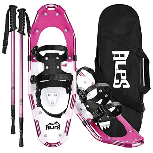 ALPS Lightweight Snowshoes Set for Women,Girls+Trekking Poles,Carrying Tote 21""