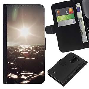 All Phone Most Case / Oferta Especial Cáscara Funda de cuero Monedero Cubierta de proteccion Caso / Wallet Case for LG G3 // Dark Ocean