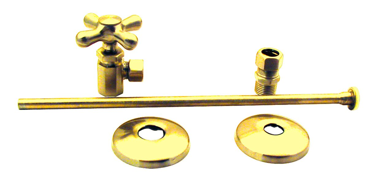 Elizabethan Classics NTLTS01PB Closet Angle Supply Kit, Polished Brass