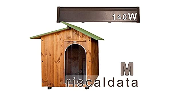 Caseta para amor - Caseta riscaldata de madera - Medium (57 x 80 cm) Caseta (mis. int. 57 x 80 x 75) + Kit calentador Caseta 140 W: Amazon.es: Hogar