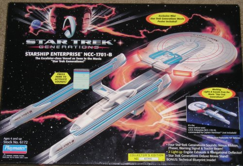 Star Trek Generations Starship Enterprise NCC-1701-B Electronic Light and Sound Ship (1994)