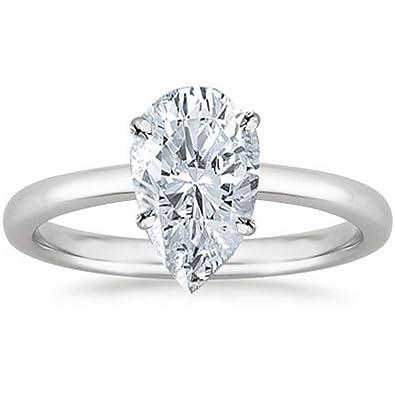 0e7e9c73d 1/2 - 2 Carat GIA Certified Platinum Solitaire Pear Cut Diamond Engagement  Ring (D-E Color, VVS1-VVS2 Clarity)