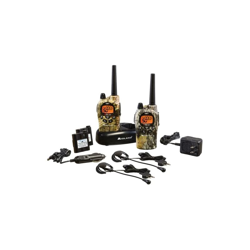 Midland - GXT1050VP4, 50 Channel GMRS Two-Way Radio - Up to 36 Mile Range Walkie Talkie, 142 Privacy Codes, Waterproof, NOAA Weather Scan + Alert (Pair Pack) (Mossy Oak Camo)
