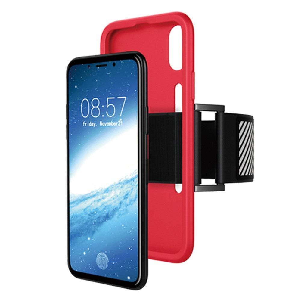 GSCshoe Brassard de Course Apple X Housse pour téléphone Portable Iphonex Outdoor Sports Arm Bag Brassard téléphonique (Couleur : Rose)