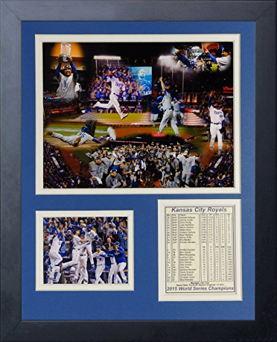 Legends Never Die MLB Kansas City Royals 2015 World Series Champions Framed Photo Collage, 11
