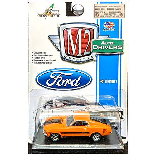 - M2 Machines 1970 Ford Mustang Mach 1 Twister Special Auto-Drivers Grabber Orange