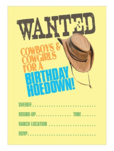 Apartment 2 Cards INVITE108 Cowboy Fill-In Party Invitation -