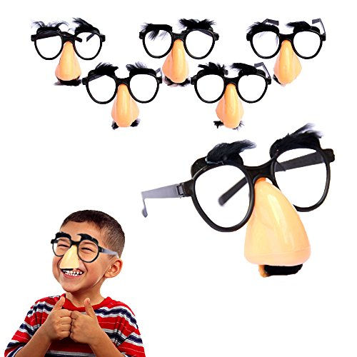 (Toy Cubby Classic Disguise Nose and Mustache Glasses - 6 pcs)