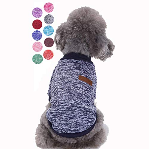 Bwealth Small Dog Clothes, Dog Sweaters for Small Dogs, Cute Classic Warm Pet Sweaters for Dogs Girls Boys, Cat Sweater…