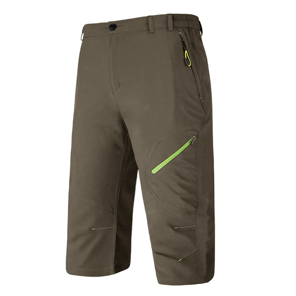 BIYLACLESEN Mens 3/4 Jogger Pants Gym Pants Men 3/4 Pants Men Workout Pants Men Long Shorts for Men Capri Pants for Men Casual
