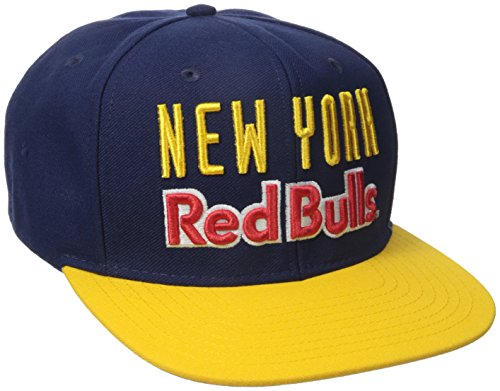 MLS New York Red Bulls Men's Jersey Hook Snapback Cap, One Size, Navy