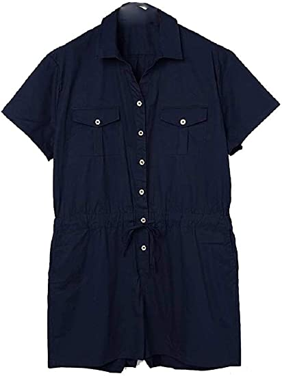 cheelot Mens Summer Individuality Casual Loose Short Sleeve Jumpsuit