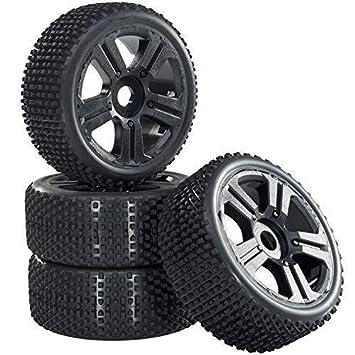 Buggy Neumáticos Set de Llantas Hunter con 5 - Ruedas Spoke Negro 1:8 partCore 320025: Amazon.es: Juguetes y juegos