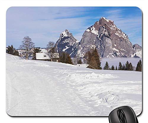 Mouse Pad - Switzerland Stoos Village Alpine Travel 1